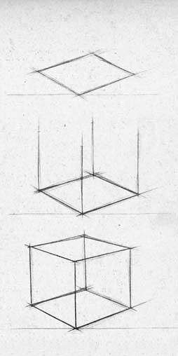 Как легче нарисовать куб